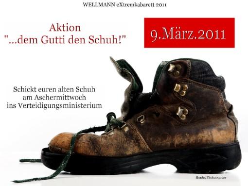 Ein Schuh für Guttenberg