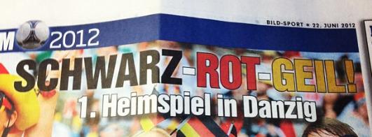 BILD-Titel zum Spiel Deutschland - Greichenland #EM12