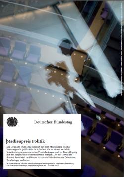 Plakat Medienpreis Politik des Deutschen Bundestags